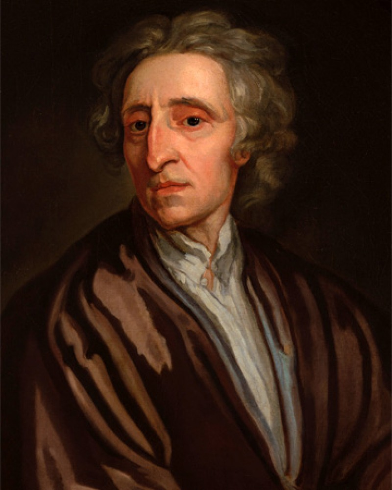 Color portrait of English philosopher John Locke.