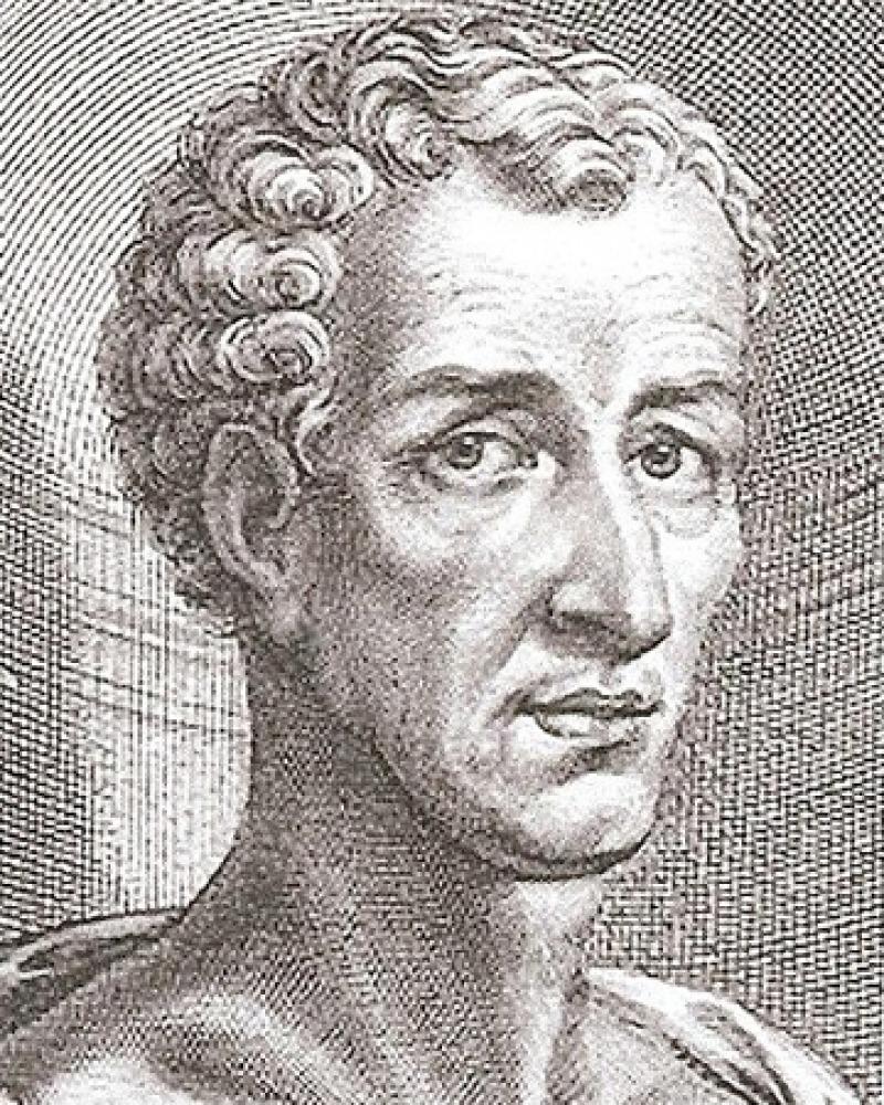 Engraving of Greek satirist Lucian.