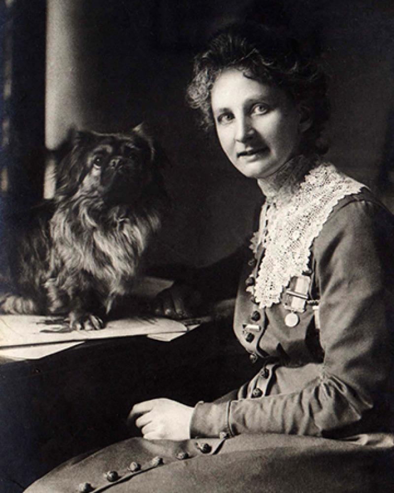 British suffragette activist, writer, and speaker Constance Lytton.