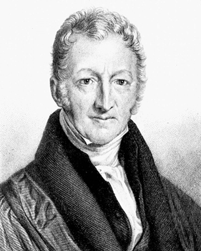 English economist and demographer Thomas Malthus.