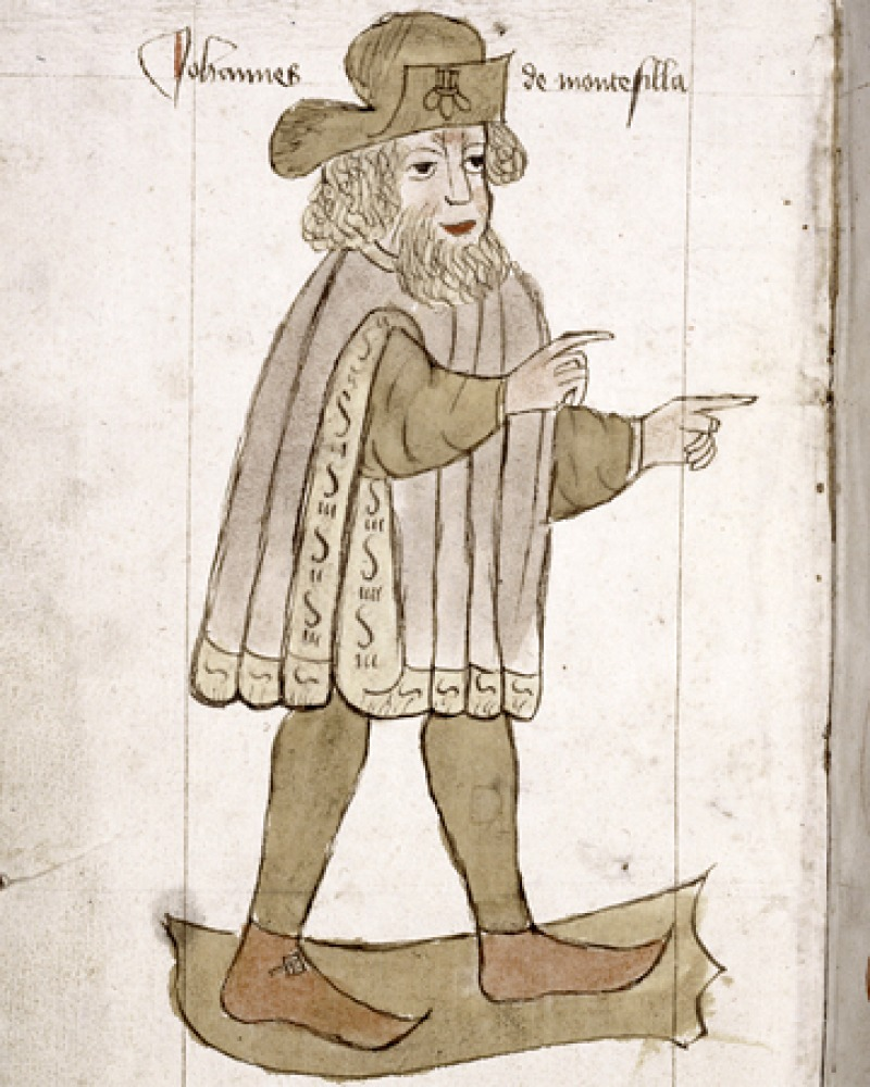 Image of medieval traveler Sir John Mandeville.