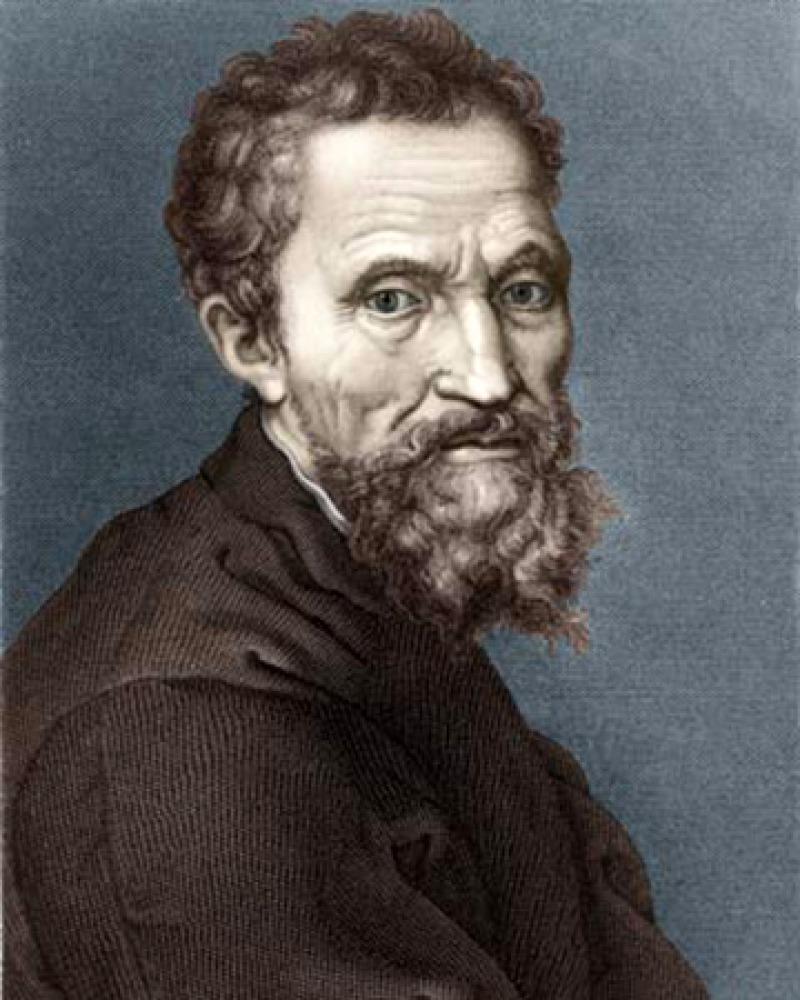 Italian Renaissance sculptor, painter, architect, and poet Michelangelo.