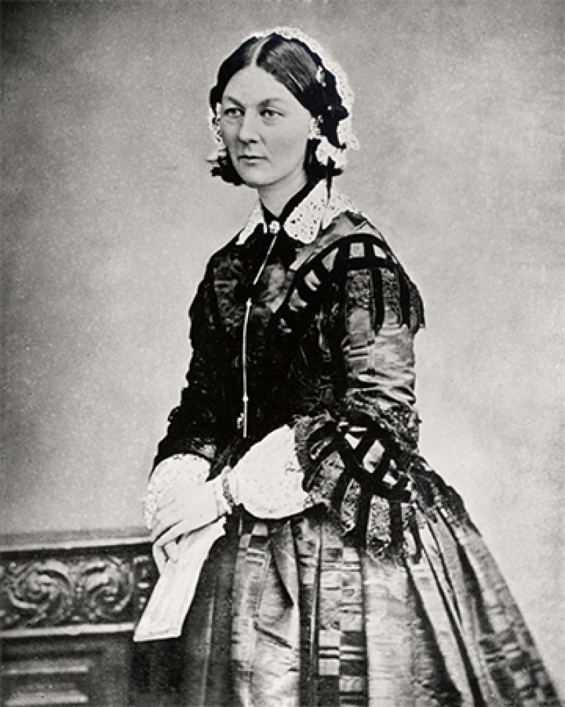 English nurse Florence Nightingale.