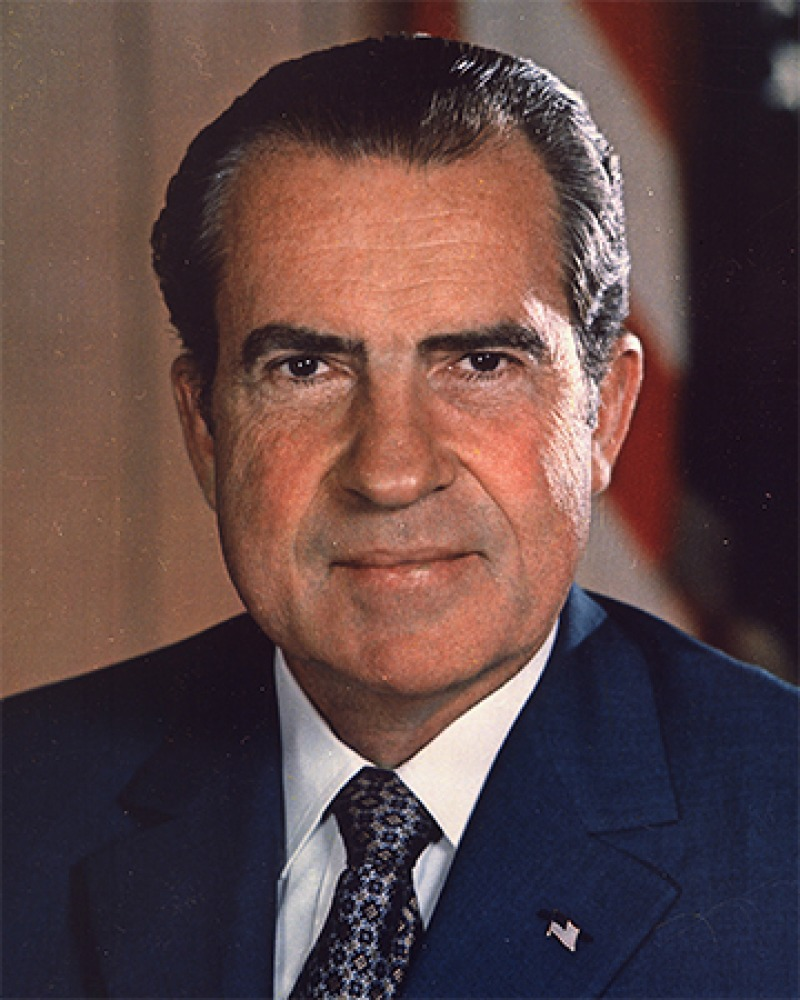 Former President of the United States Richard Nixon.