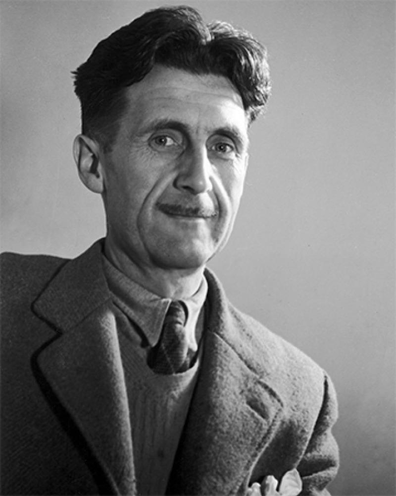 English novelist, essayist, and critic George Orwell.