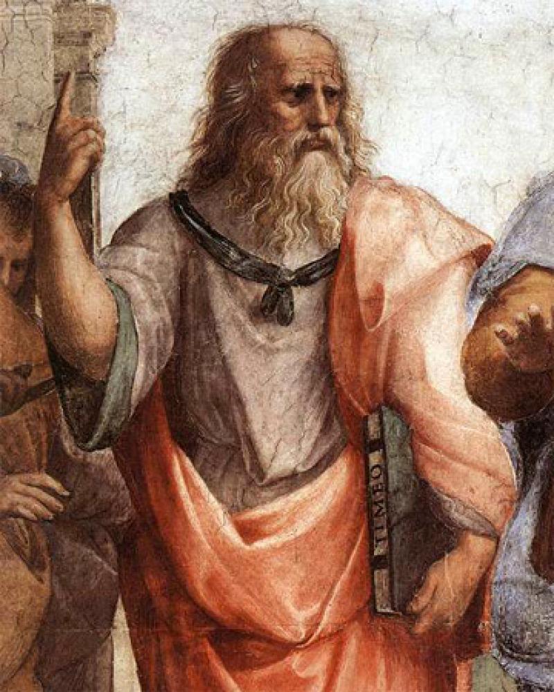 Depiction of Greek philosopher Plato.