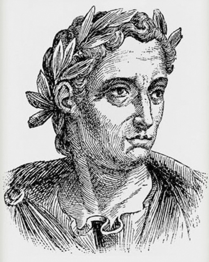 Engraving of Roman author and administrator Pliny the Younger.