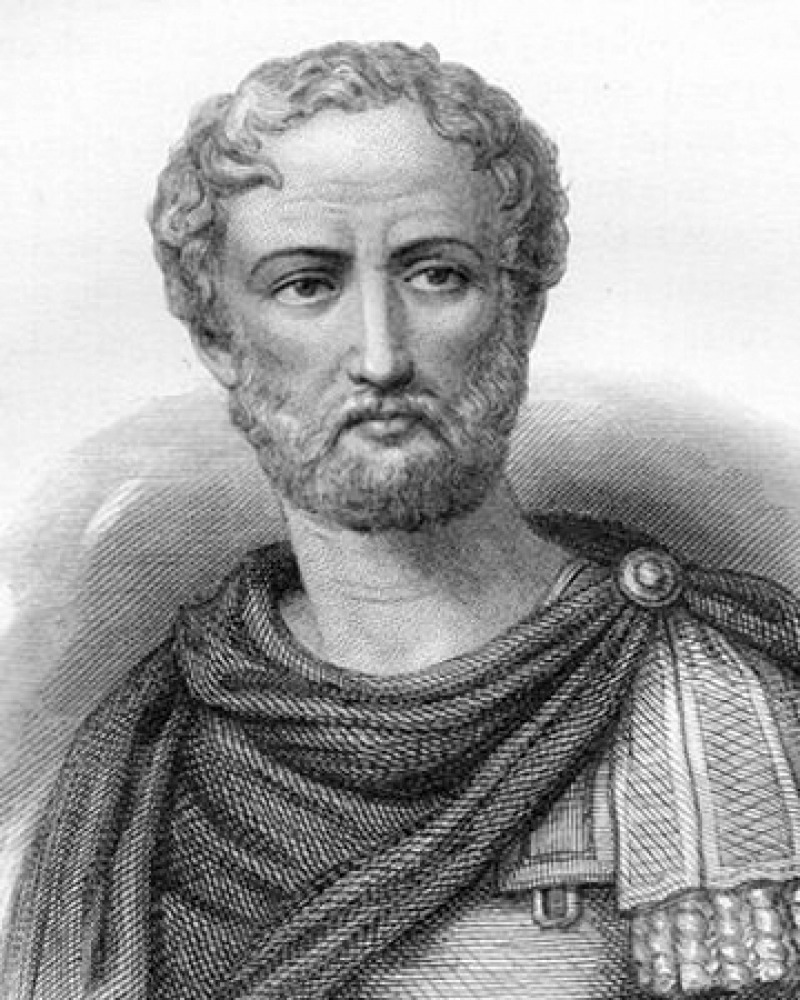 Engraving of Pliny the Elder.