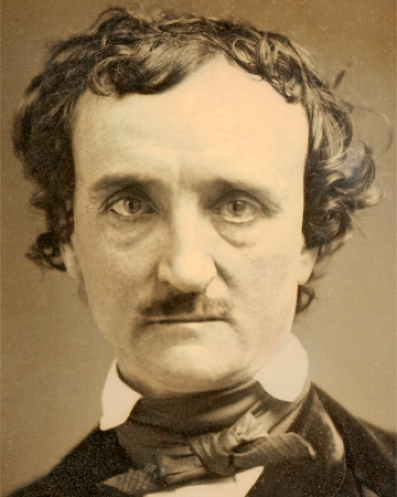 Photograph of American short-story writer and poet Edgar Allan Poe.