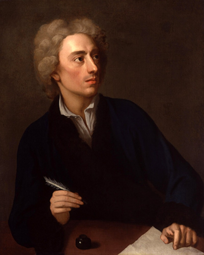 English poet and satirist Alexander Pope.