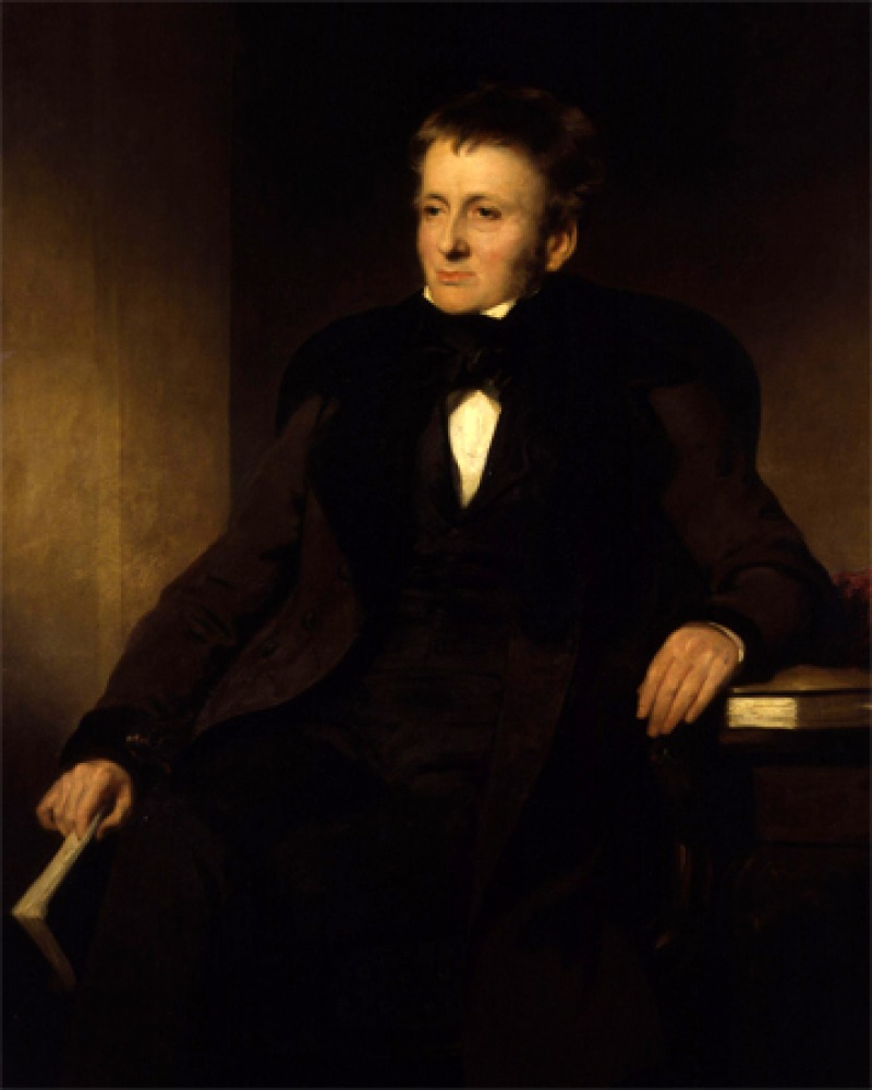 Portrait of English essayist and critic Thomas De Quincey.