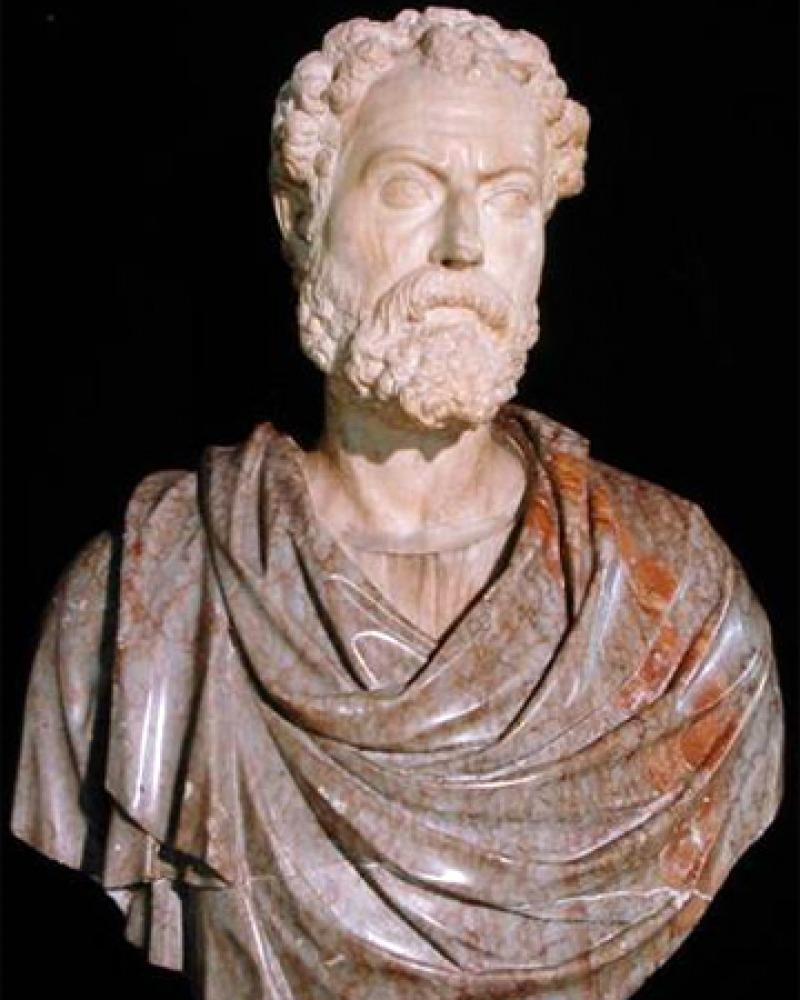 Sculpture bust of Roman teacher and writer Quintilian.