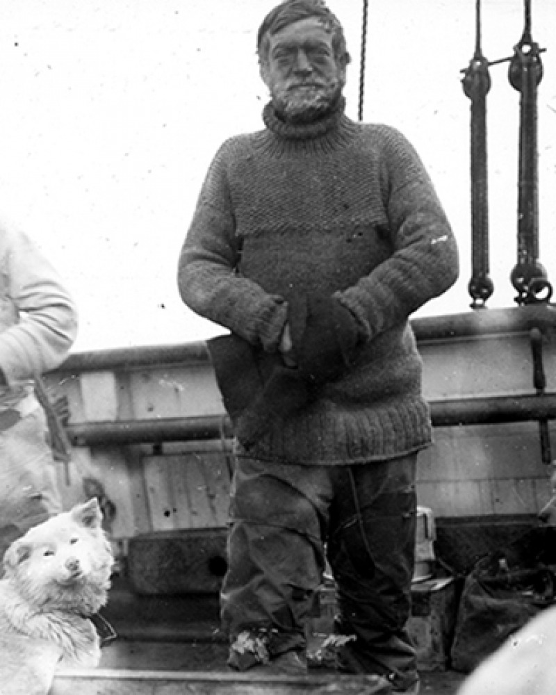 Polar explorer Ernest Shackleton.