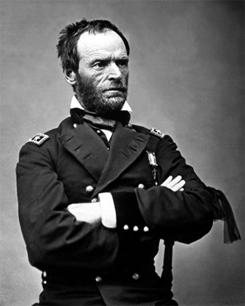 American civil war general William Tecumseh Sherman.