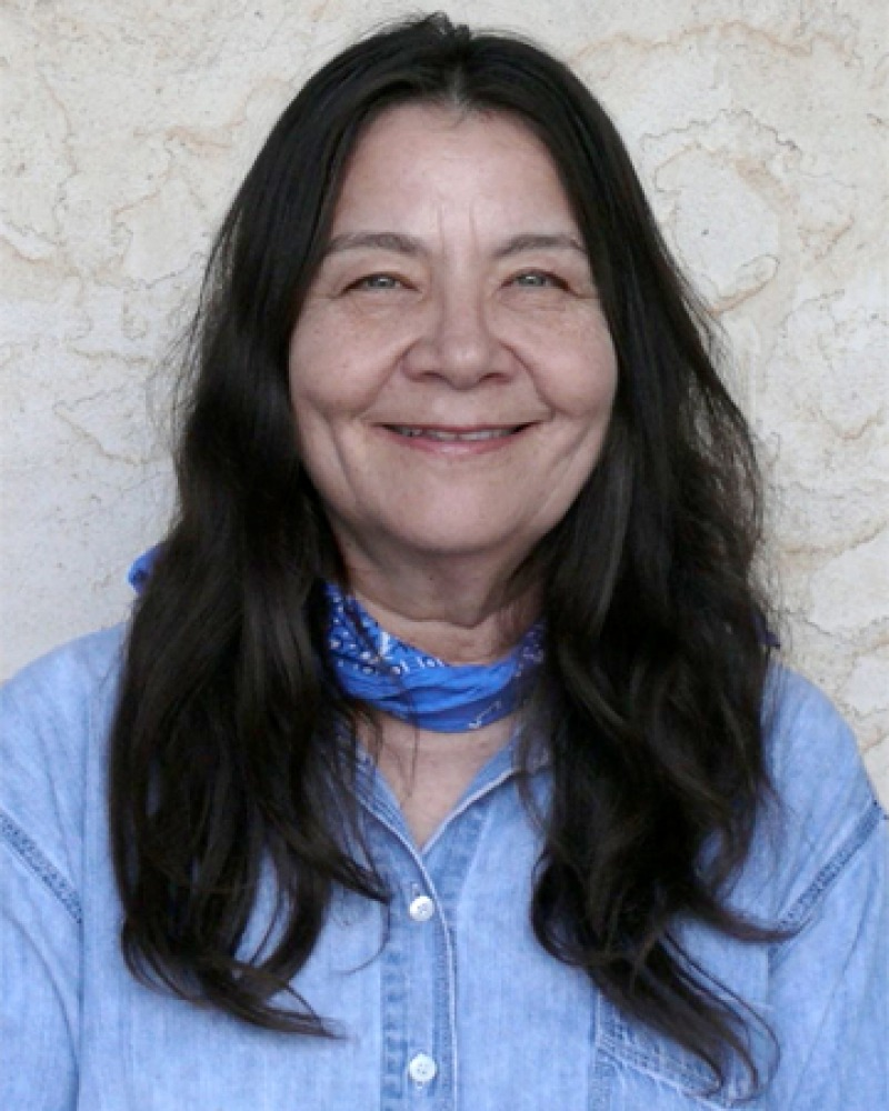 Photograph of Native American poet and novelist Leslie Marmon Silko.