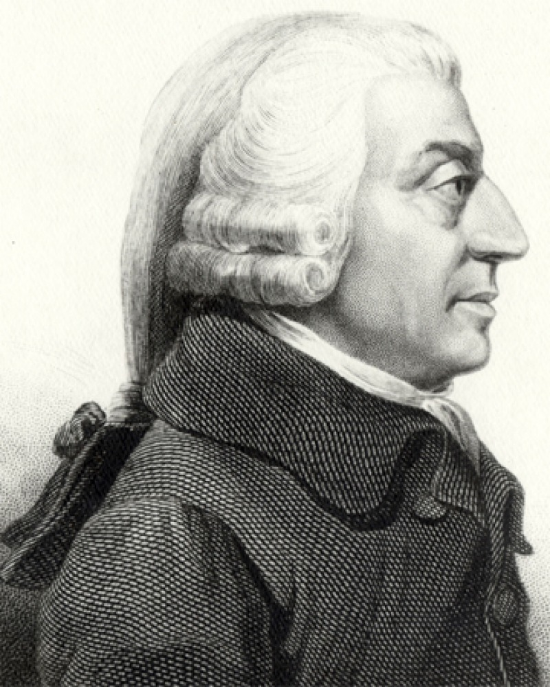 Engraving of Scottish economist Adam Smith.