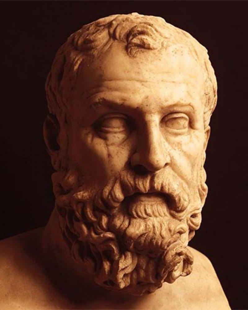 Bust of Athenian statesman Solon.