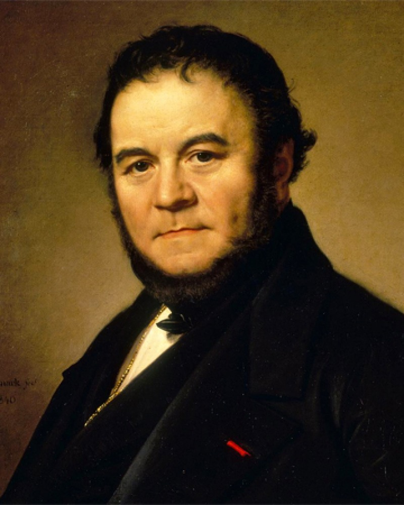 Portrait of French writer Stendhal.