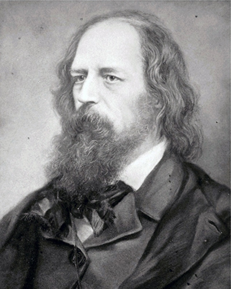 English poet Alfred, Lord Tennyson.