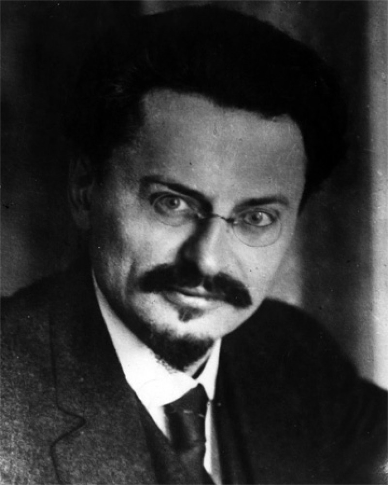 Portrait of communist theorist and agitator Leon Trotsky.