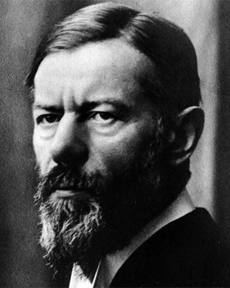 Photograph of German sociologist and political economist Max Weber.