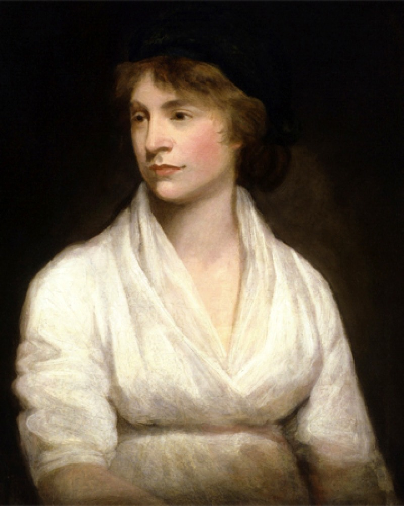 Portrait of English writer Mary Wollstonecraft.