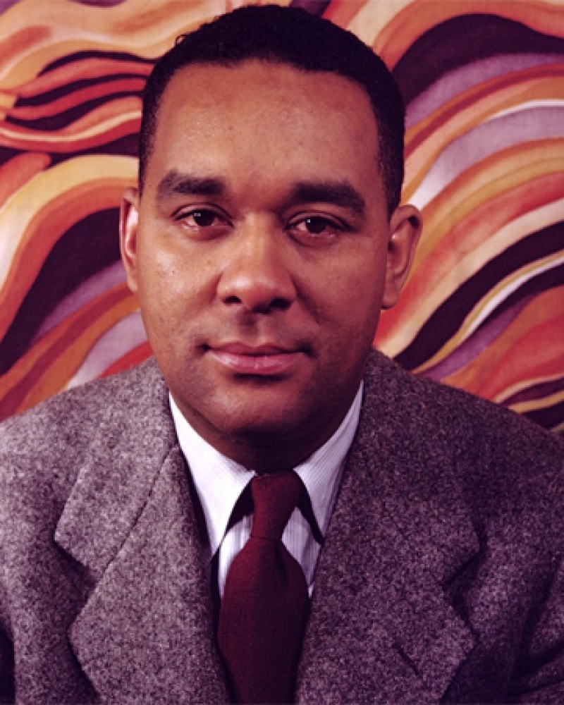 Color photograph of American novelist and short-story writer Richard Wright.