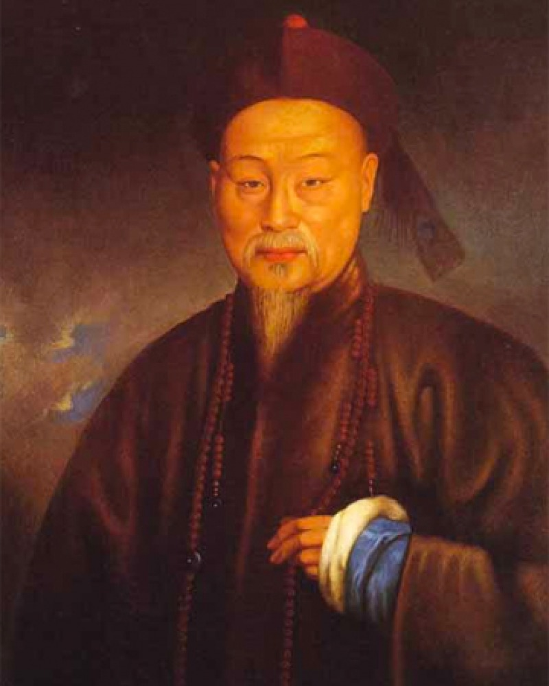 Portrait of Chinese scholar and official Lin Zexu.