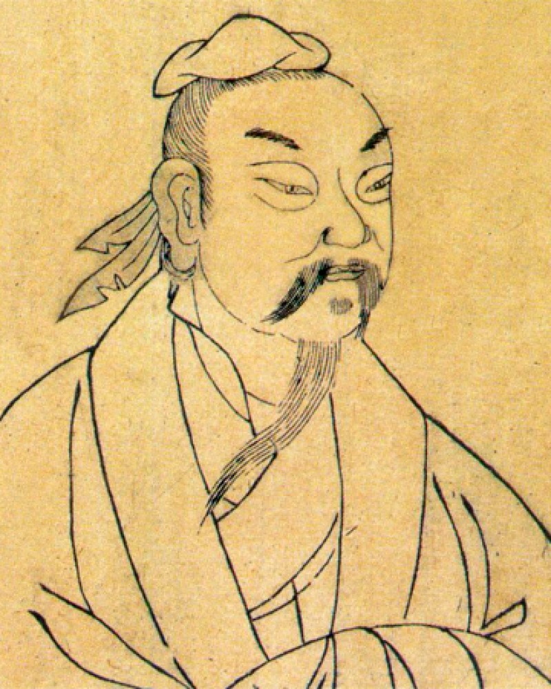 Portrait of Chinese Daoist Zhuangzi.