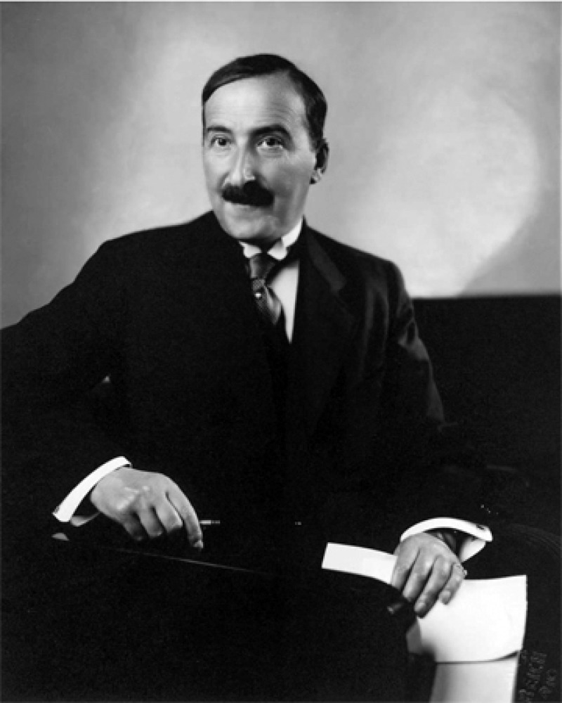 Black and white photograph of Austrian writer Stefan Zweig.
