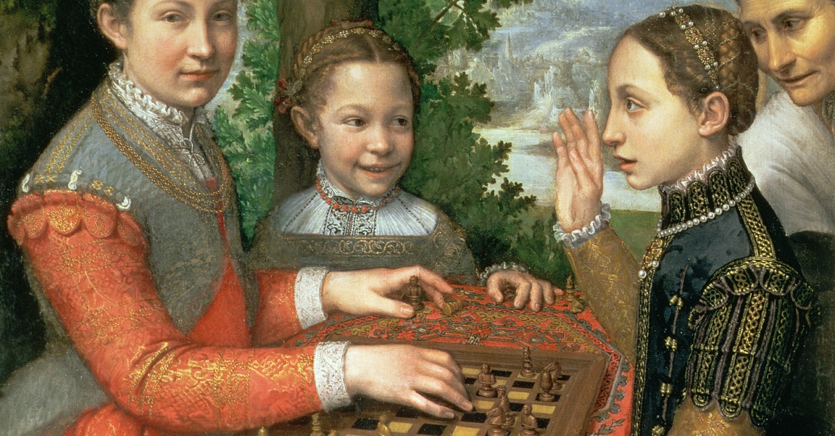 Donate Now >> Youth: Sisters Playing Chess | Lapham's Quarterly