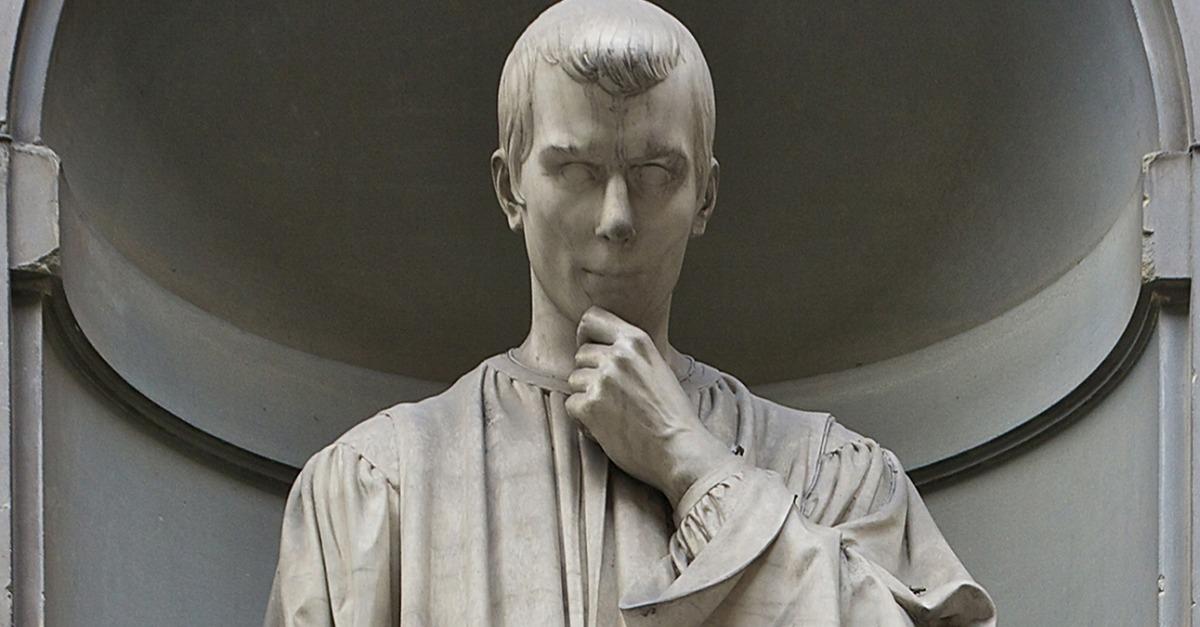 an analysis of machiavelli on statue at the uffizi A statue of niccolo machiavelli found in the arcade of florence's uffizi museum.
