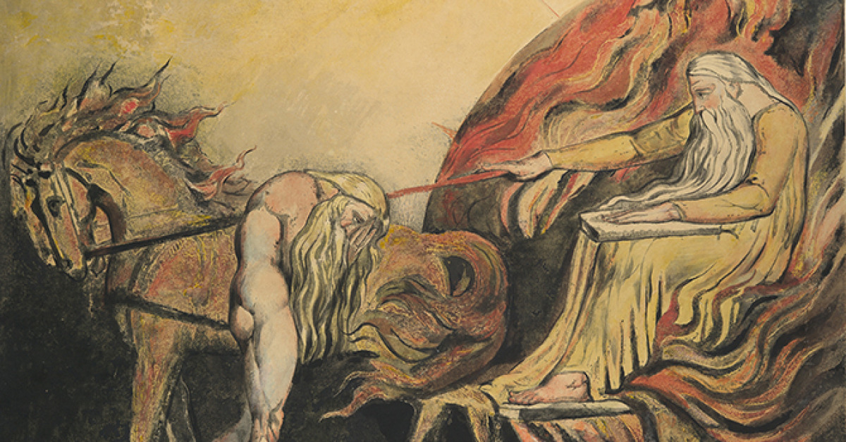 """William Blake (1757–1827) is probably best known today for """"The Tyger,"""" one of the most anthologized poems in the English language, from Songs o"""