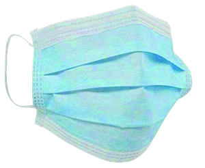 A photograph of a surgical face mask