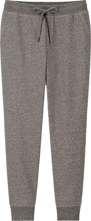 A pair of gray sweatpants