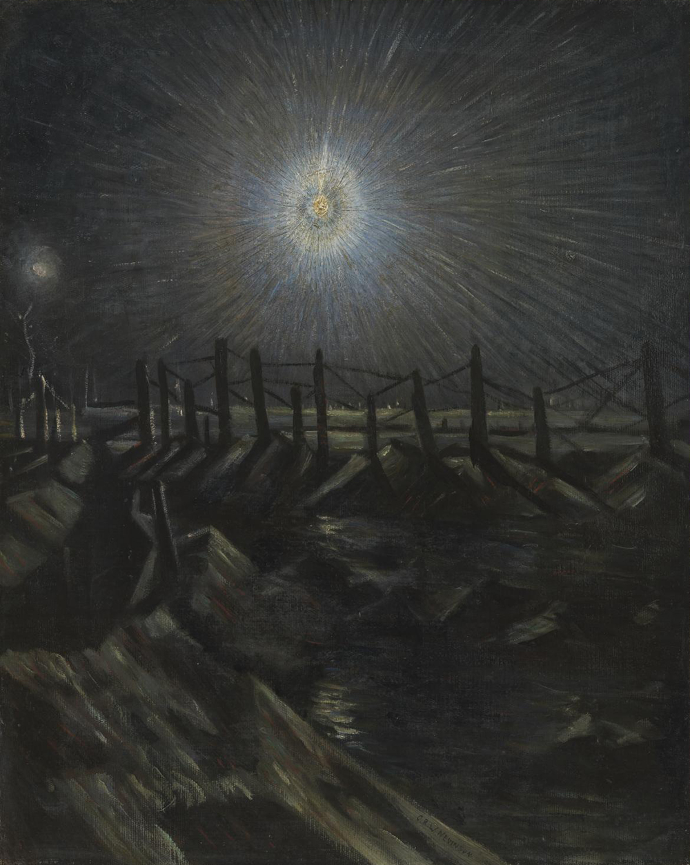 A Star Shell, by Christopher Richard Wynne Nevinson, 1916. Photograph © Tate (CC-BY-NC-ND 3.0).