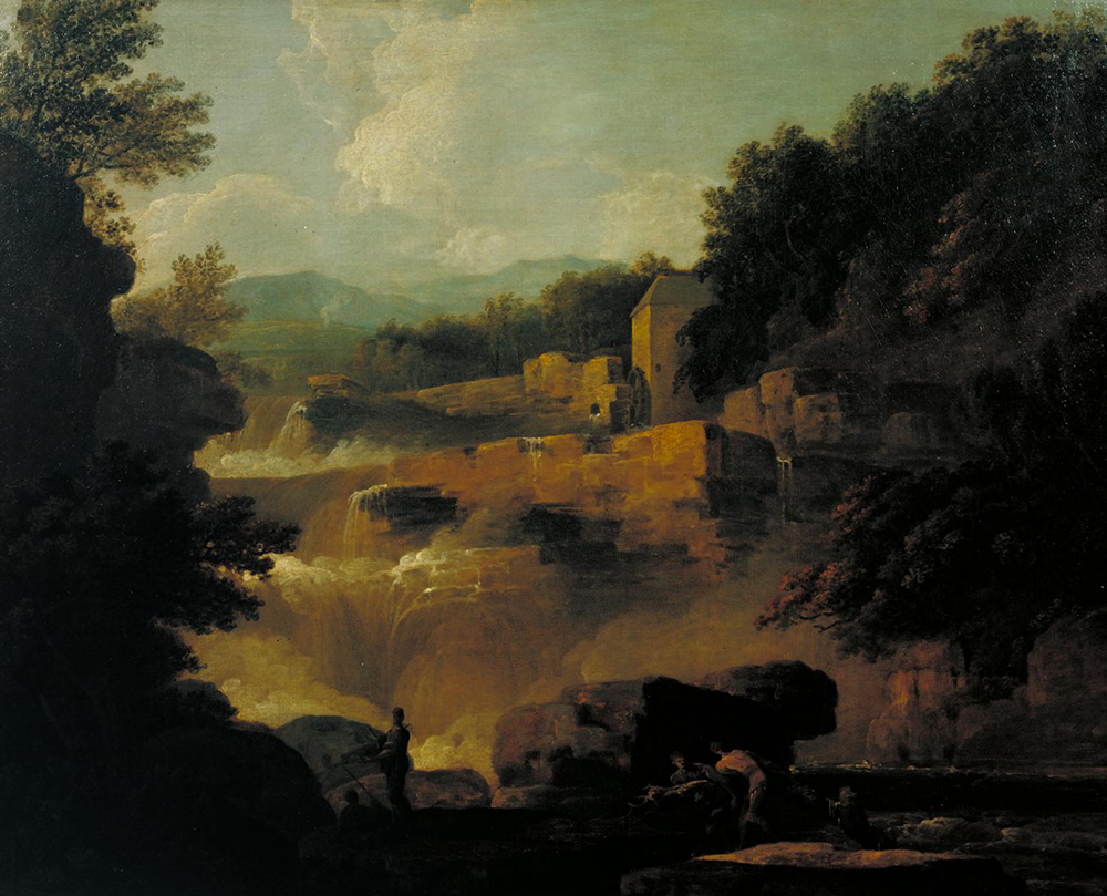 Falls of Clyde: Stonebyres, by Jacob More, c. 1771.