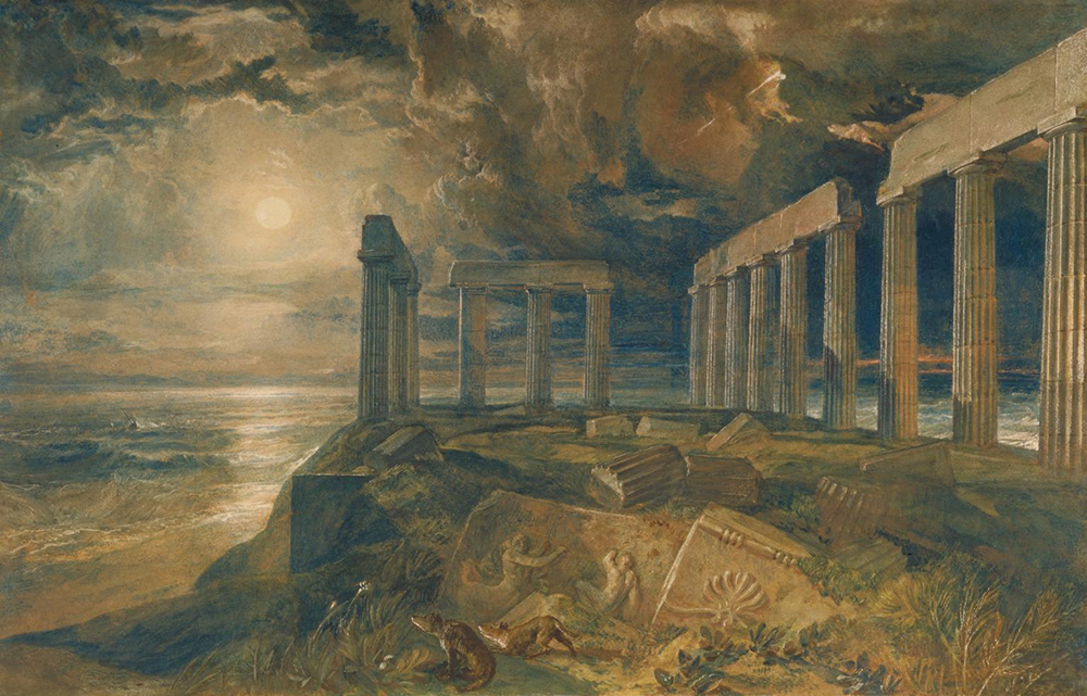 The Temple of Poseidon at Sunium, by J.M.W. Turner, c. 1834.