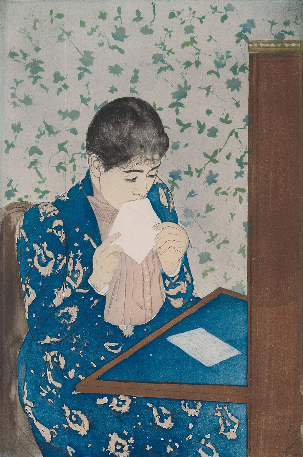 The Letter, by Mary Cassatt, c. 1890. The Art Institute of Chicago, Mr. and Mrs. Martin A. Ryerson Collection.