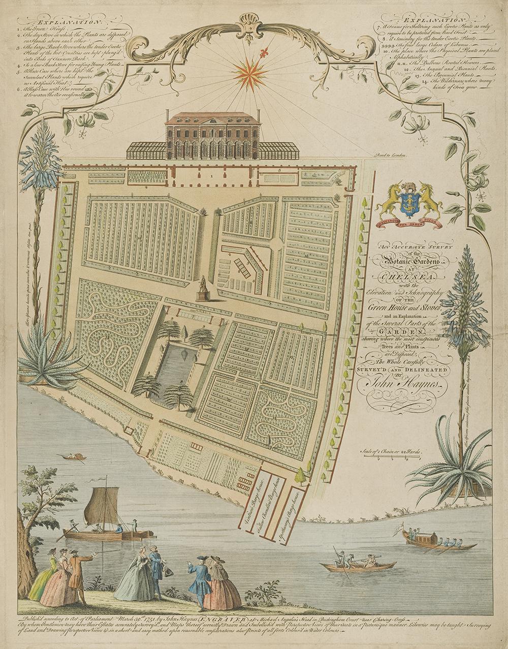 The Chelsea Physic Garden, by John Haynes, 1751.