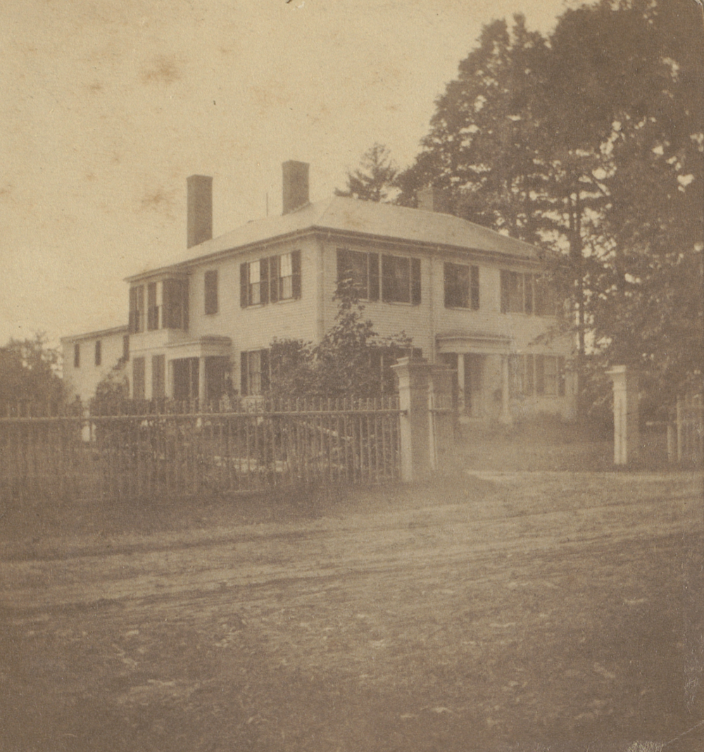 Emerson House, Concord, 1828, Boston Public Library, Archive of Photographic Documentation of Early Massachusetts Architecture.