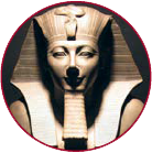 An Egyptian statue of Thutmose the third.