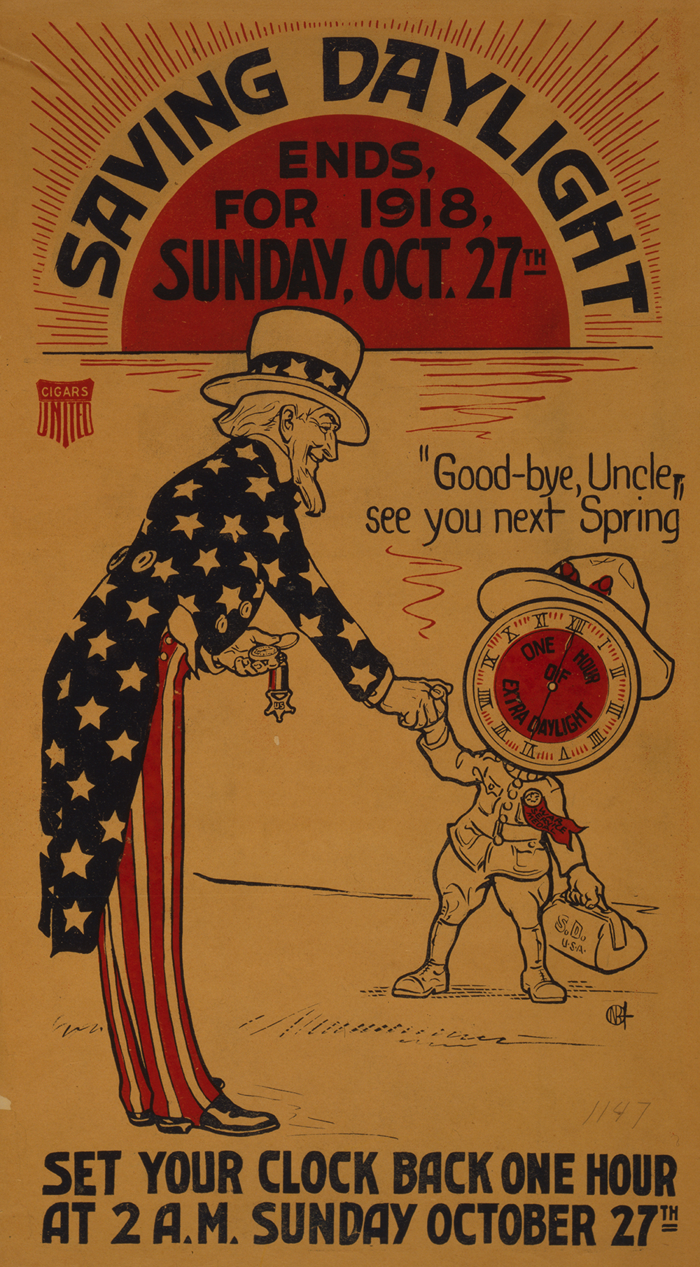 Saving daylight ends, 1918. Library of Congress, Prints and Photographs Division.