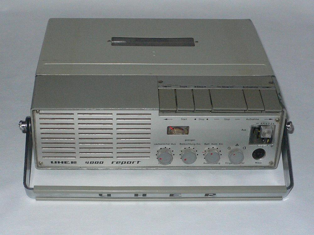 1960s-era Uher recorder.