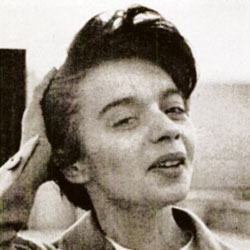 A black-and-white photograph of Urszula Discher.