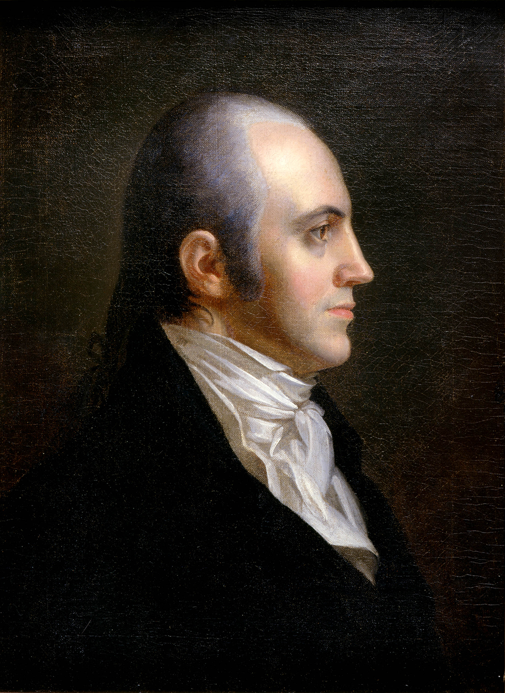Portrait of Aaron Burr by John Vanderlyn, 1802. New-York Historical Society, Gift of Dr. John E. Stillwell.