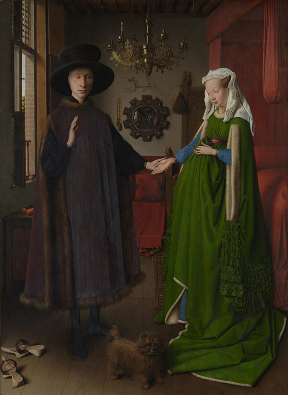 """The Arnolfini Wedding,"" by Jan van Eyck, 1434. © The National Gallery, London, bought, 1842."