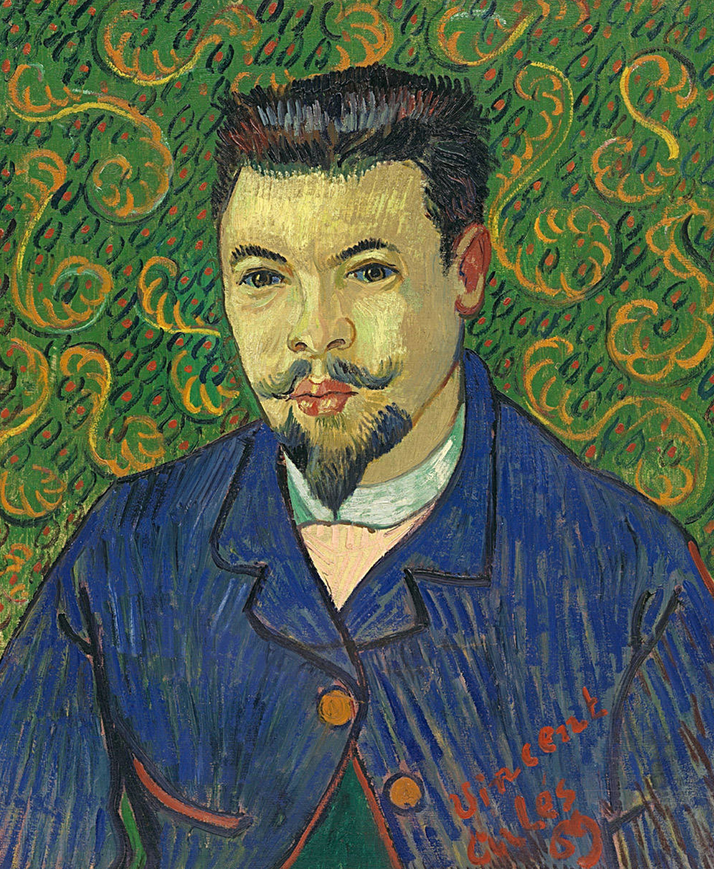 """Portrait of Doctor Rey,"" by Vincent van Gogh, 1889. Pushkin State Museum of Fine Arts."
