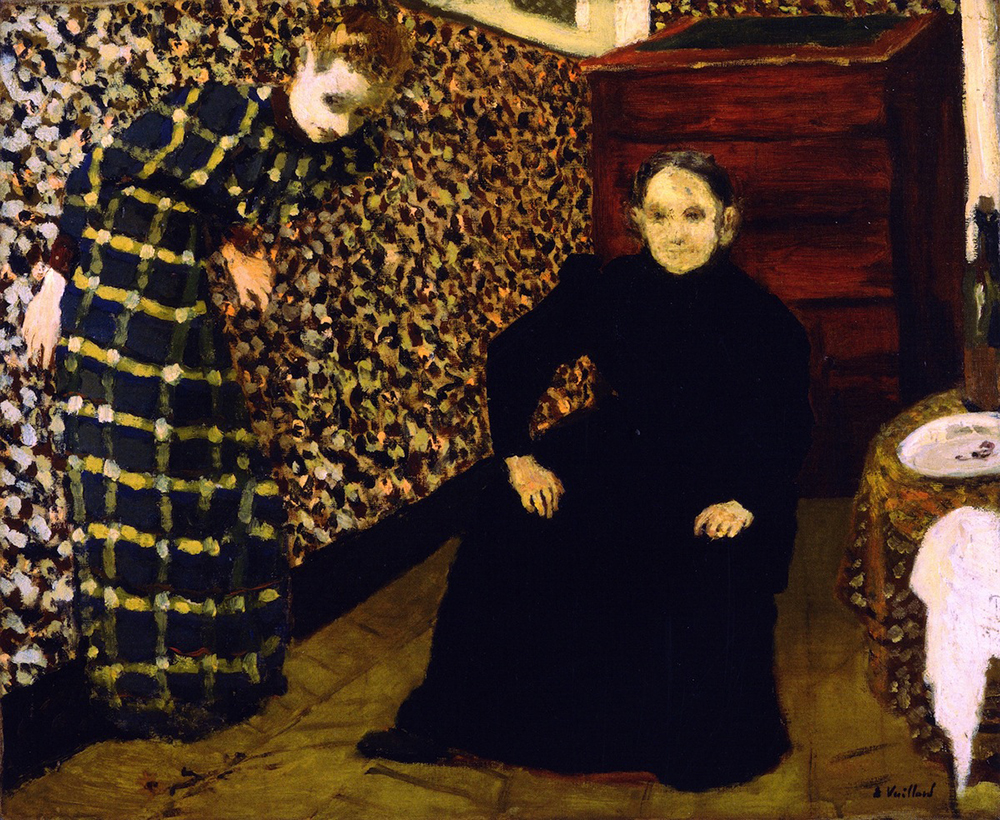 """""""Interior, Mother and Sister of the Artist,"""" by Édouard Vuillard, 1893. WikiArt."""