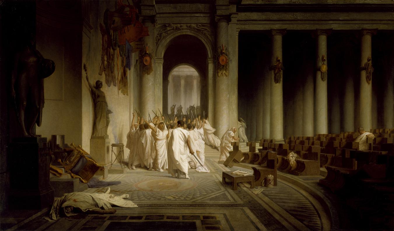 The Death of Caesar, by Jean-Léon Gérôme, c. 1859. The Walters Art Museum.